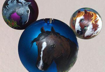 Custom Horse Shatter Resistant Ornament