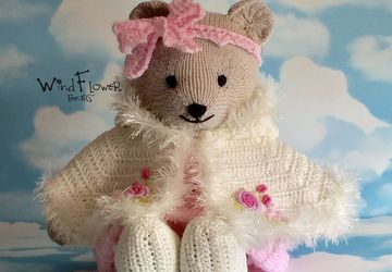 Hand crafted, one of a kind teddy bear - Angelica.