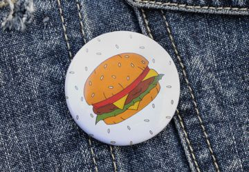 Burger Pin Badge