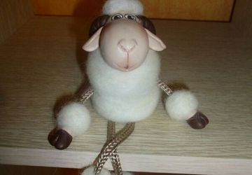 A white toy sheep