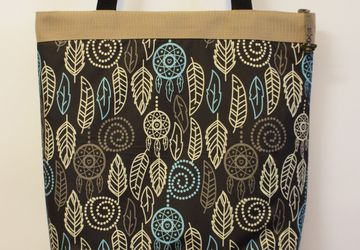 "Textile bag ""Foliage"" (brown)."