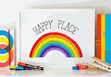 Rainbow wall art, nursery wall art