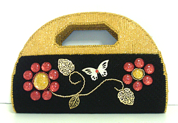 Black,Red and Gold large Clutch/Evening bag