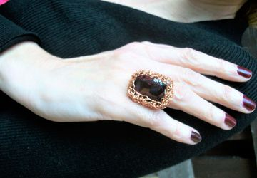 Wire crochet adjustable ring