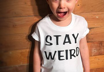 STAY WEIRD T-Shirt • Unisex Kids T-Shirt • Multiple colors available!