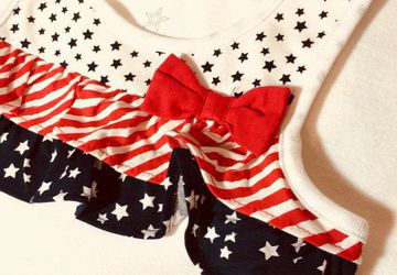 4 Toddler Patriotic T-Shirt Dress 100% Cotton with Free Shipping