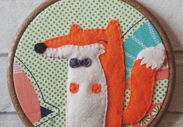 Felt Mr Fox Textile Wall Art