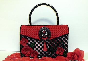 Red and Black Handbag