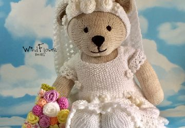 Hand knitted one of a kind teddy bear - Bartsia.