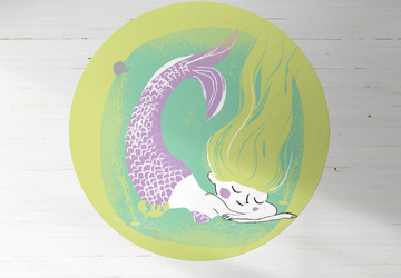 Little Mermaid, PVC Carpet print, kids Room Decor ,Girls Carpets, Girls Nursery Art, Gift for Girls, kids linoleum rug, kids rug