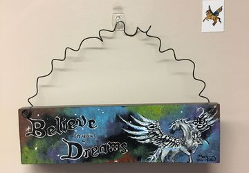 Believe in your dreams! Pegasus Fantasy Wall Art