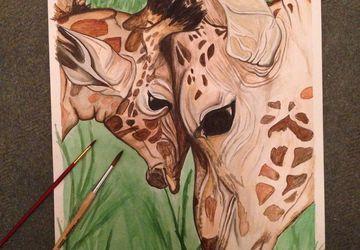 """A painting """"Giraffes"""""""