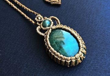 AMAZONITE MACRAME NECKLACE