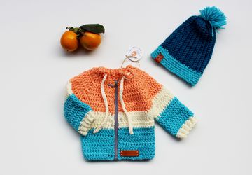 Crochet Baby set - Jacket and Hat