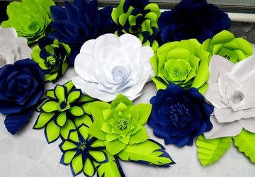 Lot 15 Large Paper flower wall decor, flore de papel, wedding paper flower backdrop, paper flower backdrop baby shower, customize