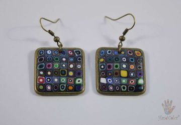 Gustav Klimt Squared Earrings - BQDK-0-44