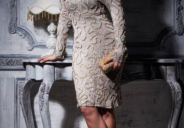 Decorated silk dress