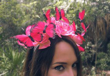Secret Garden - Monarch Butterfly EDM Festival Headband