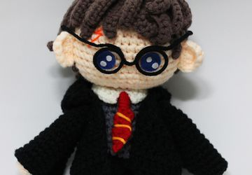 Harry Potter Chibi Plushie Amigurumi Stuffed Toy Doll Handmade Softies Gift Baby Crochet Knit Inspired Plush Characters Cosplay