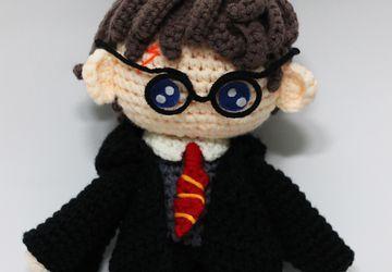 Harry Potter Chibi Plushie Amigurumi Stuffed Toy Doll Handmade Softies Gift Baby Crochet Knit Inspired Plush Characters Cosplay