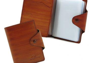 Cardholder CANGURIONE 3310-004 Tan Hand Made