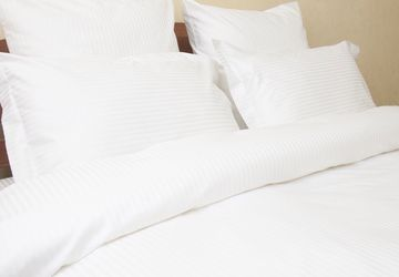 White bedclothes