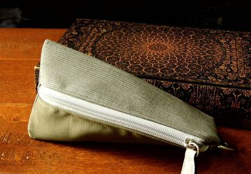 Sunglass Pouch, Brown Small Pouch, Small Zipper Pouch, Small Travel Pouch For Men, Cable Pouch