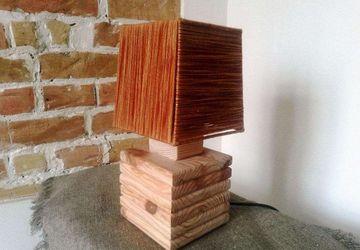 "Handmade bedside lamp ""Chalet"""