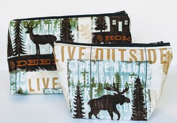 Wildlife Organizer Bags, Matching Travel Bags, Travel Case, Zipper Bag, Gift under 20, Outdoorsy Gift