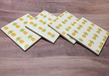 Pineapple coasters (set of 4)