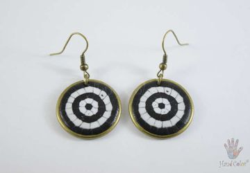 Portuguese Cobblestone Round Earrings - BCDC-2-28