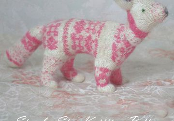 The Fairy Floret Fox Step by Step Knitting Pattern