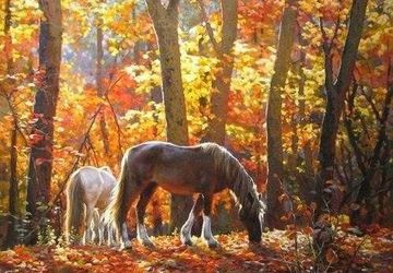 "A painting ""Horses"""