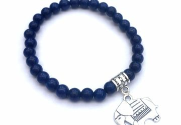 Dark blue elephant bracelet