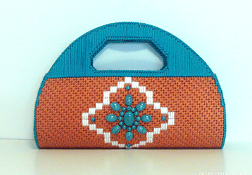 Southwestern Terra-Cotta and Turquoise Clutch