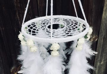 White mobile dreamcatcher