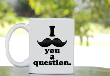 I Mustache You A Question Mug