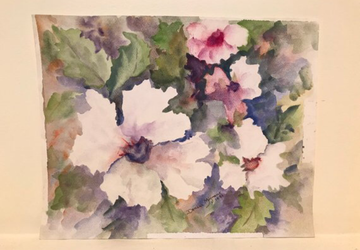 Original Watercolor Painting- Hibiscus