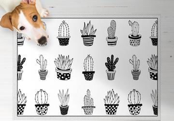 Cactus Love, PVC Carpet, Home Decor, Area Rug, Floor Rug, Linoleum Rug, Kitchen Rug, Colorful Rugs, New Home Gift, Home Design, Vinyl Rug