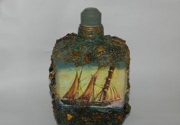 Sailboat green bottle