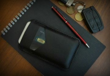 A phone leather case (black)