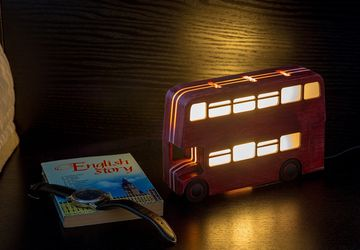 Double-decker night-light (dark-red)