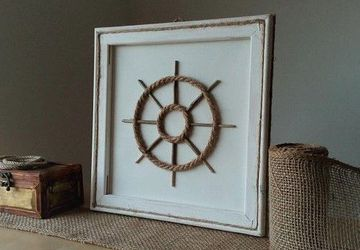 Nautical Wall Decor, Beach Wall Decor, Ship Wheel Home Decor