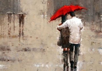 "A painting ""During the rain"""