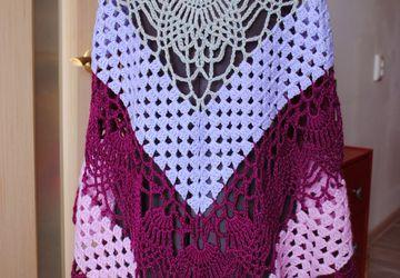 A wool shawl