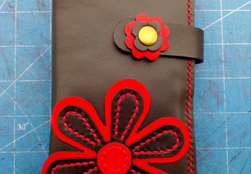 Handmade leather womens wallet