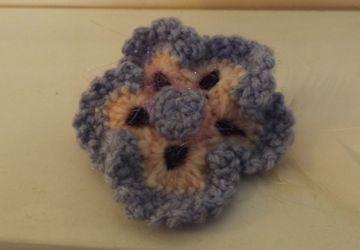 Beautiful crochet flower hair