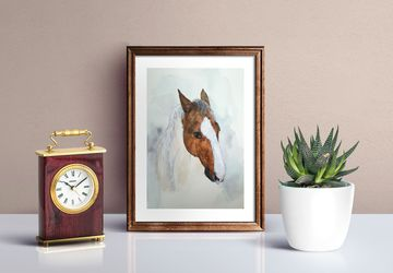 Horse wall art / watercolor horse lover gift /animal painting /horse portrait