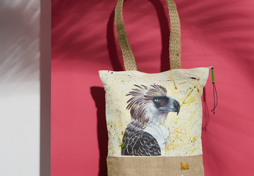 Philippine Eagle Agila Hand Painted Tote Bag