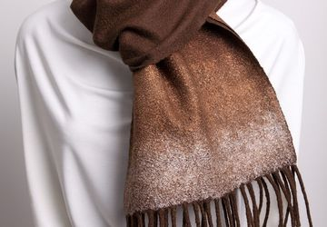 "Felted scarf ""Miss Brown"""